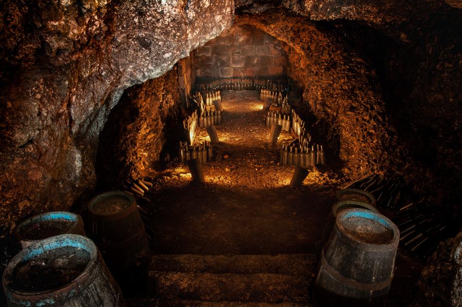 Antiche Cantine Mario Terenzi: dettaglio della grotta