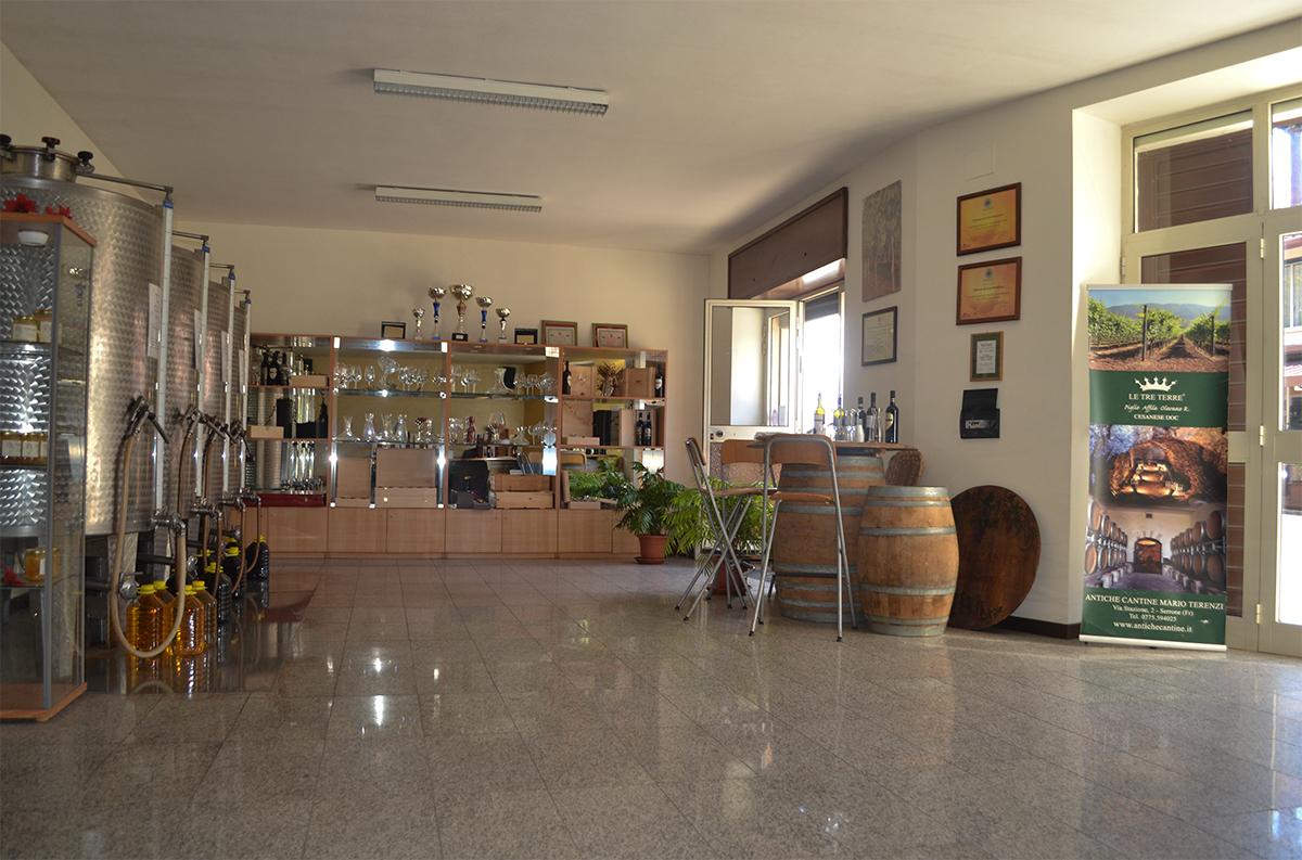 Punto vendita Antiche Cantine Mario Terenzi: Serrone (Frosinone)